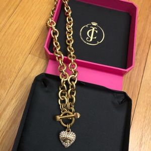 Juicy Couture gold chain necklace